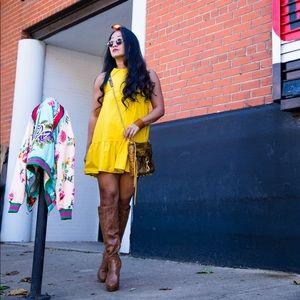Sunshiny Yellow Swing Dress